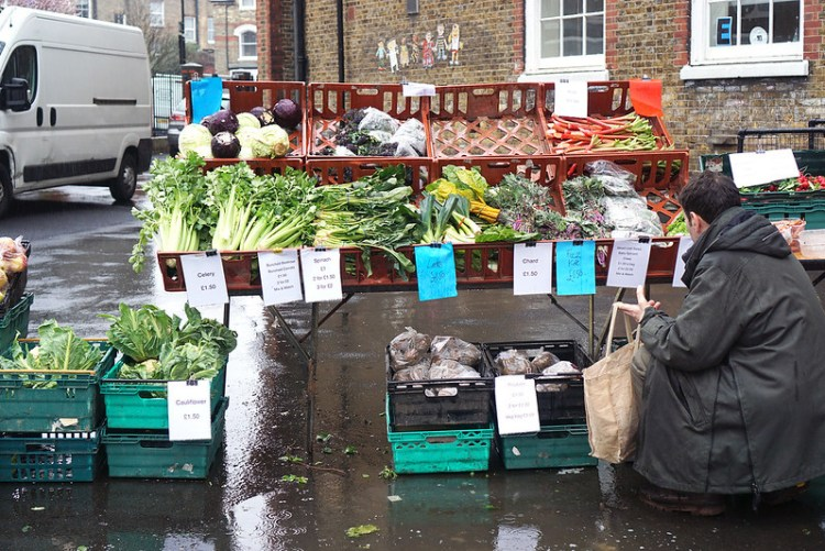 Fruit and vegetable stall in Stroud Green Market | Finsbury Park | North London | My Gluten Free Stroud Green Market guide