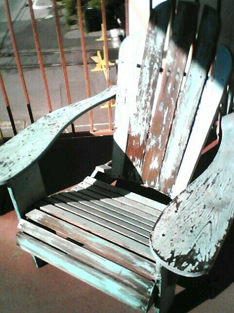 distressed adirondack chairs jazzy power chair funky a weatherbeaten spotted on flickr by curiousyellow