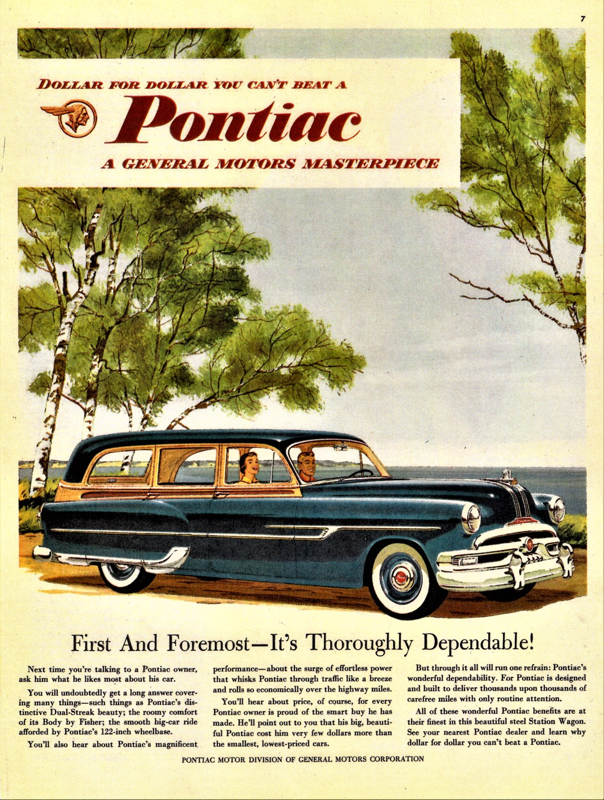 1953 Pontiac Chieftain DeLuxe Station Wagon