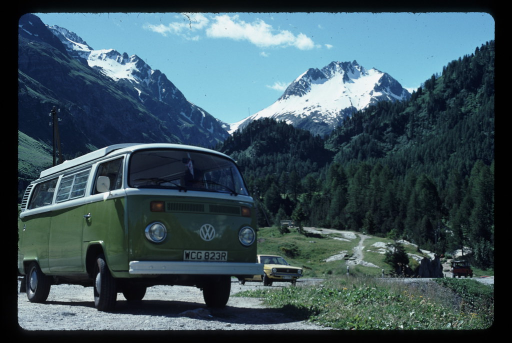 VW Camper Van August 1977  This picture is a scan of a