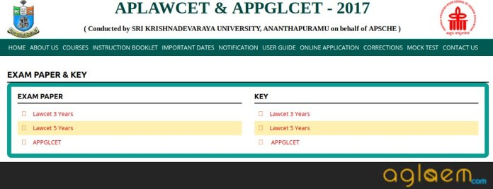 AP LAWCET 2018 Answer Key | AP LAWCET 2018 Question Paper with Key  %Post Title | AglaSem