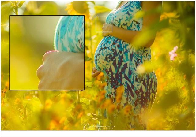 Chromatische abberatie is hier te zien als een paarse rand rond de hand. Dit is te corrigeren in de nabewerking. (EF 85mm f/1,2L II @ f/1,6)