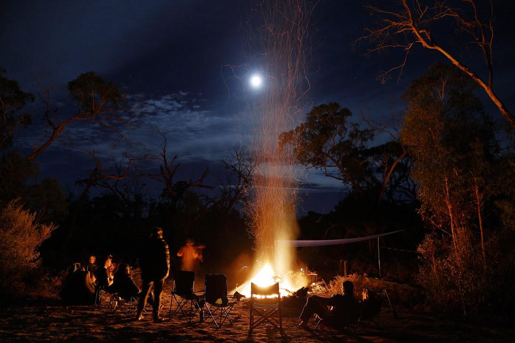 Campfire and Easter Full Moon  Victoria Range Grampians Na  Flickr