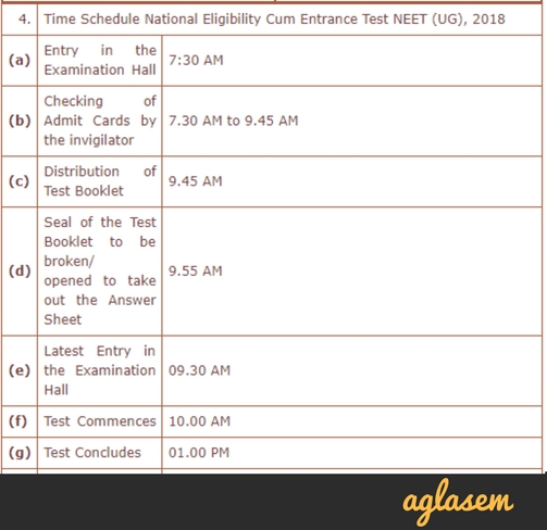 NEET Rules And Regulations 2018   Know NEET exam day guidelines, things you can carry, banned items