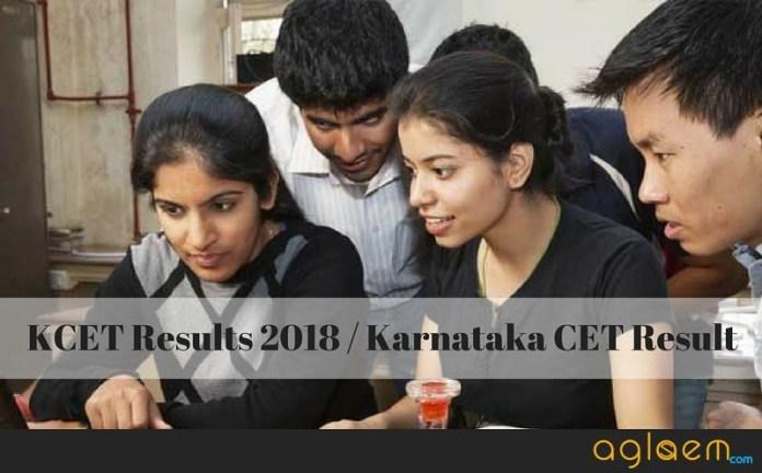 KCET Results 2018