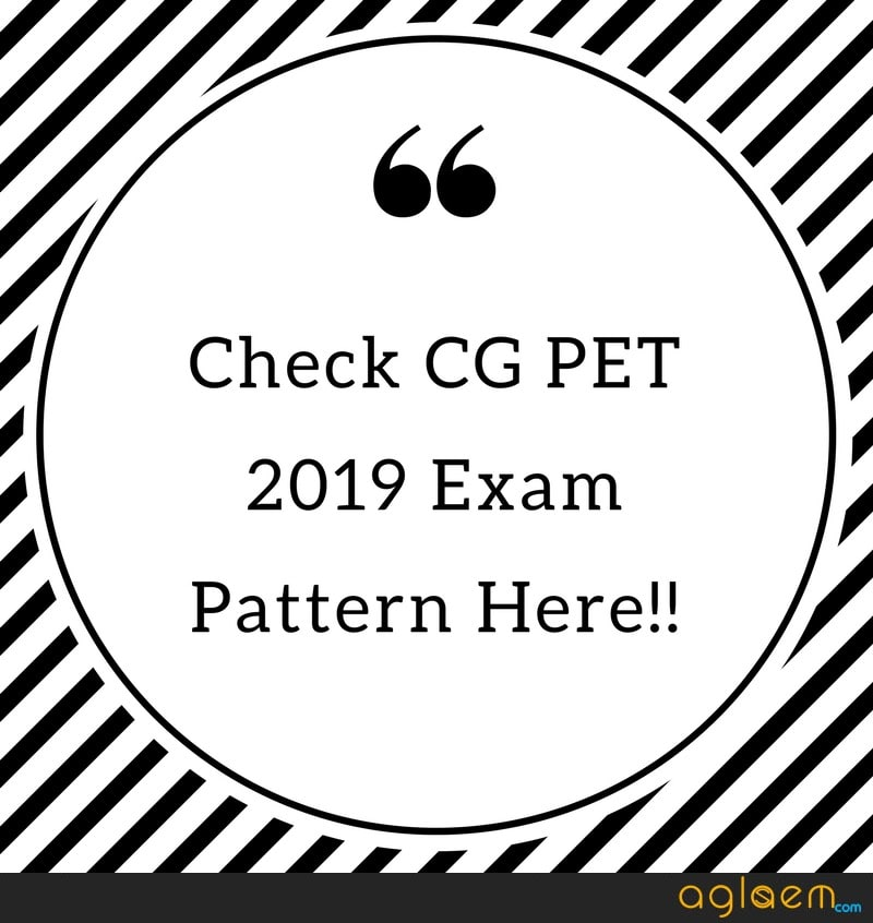 CG PET 2019 Exam Pattern: Marking Scheme, Negative Marking