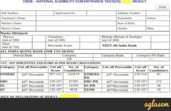 NEET 2018 Merit List (Declared)   Check Here NEET 2018 Rank and Marks