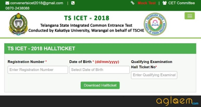 TS ICET 2018 Hall Ticket