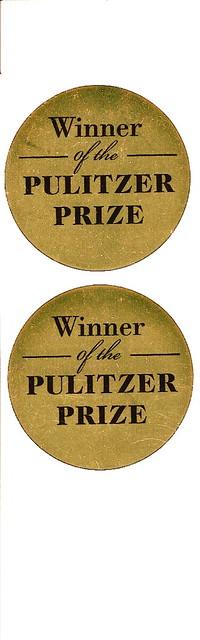 Pulitzer Prize stickers  Having the sticker already sure