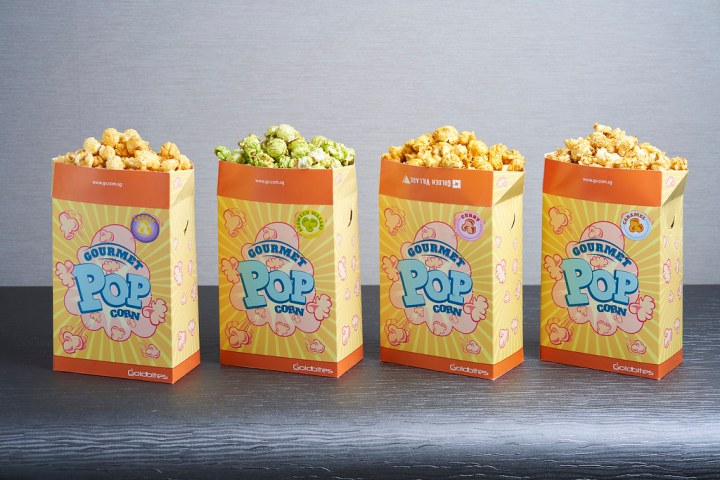 GV launches four flavours of gourmet popcorn: Cheese, seaweed wasabi, curry and caramel. Photo: Golden Village