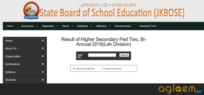 JK BOSE 12th Bi-Annual Result 2018 for Leh Division