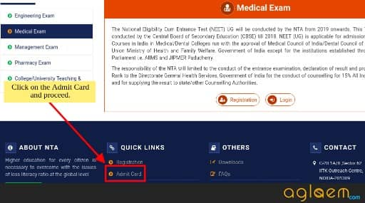 NEET 2019 Admit Card, Hall Ticket, Download Date   Check Here