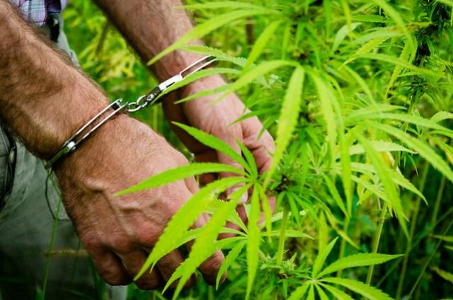 A person in handcuffs