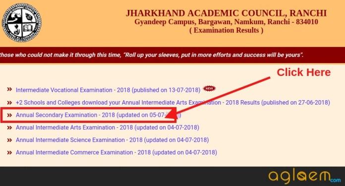 Jharkhand Board Result