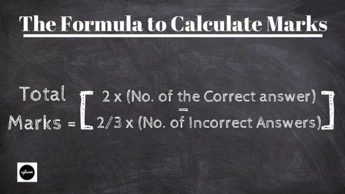 Formula to calculate marks