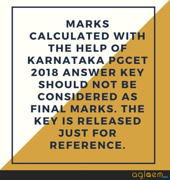 PGCET 2018 Answer Key