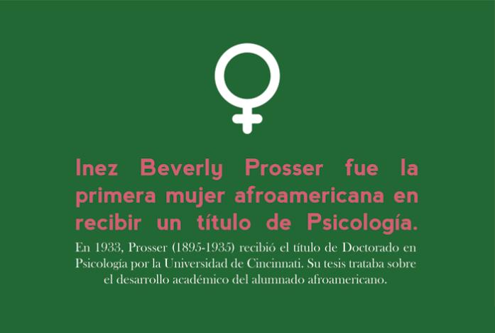 octubre: Inez Beverly Prosser fue la primera mujer afroamericana en recibir un título de Psicología