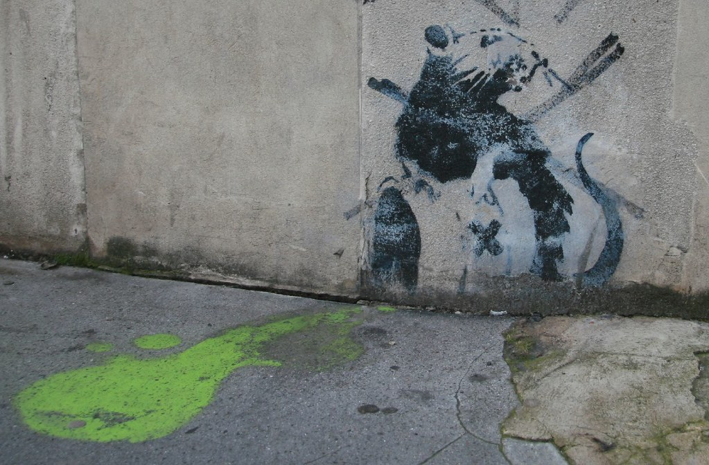 Banksy Toxic Waste  Banksy rat  toxic waste Seems to
