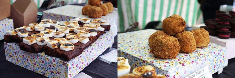 Gluten free smores brownies and scotch eggs from Floris Bakery in Stroud Green Market | Floris Foods | Gluten free Stroud Green Market guide | Finsbury Park | Crouch Hill | North London