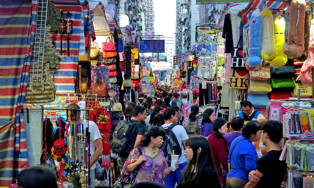 Hong Kong street market  Mong Kok is a buzzing maze of