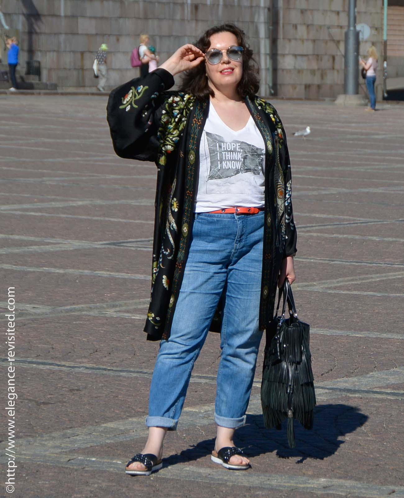 how to wear a kimono over 50