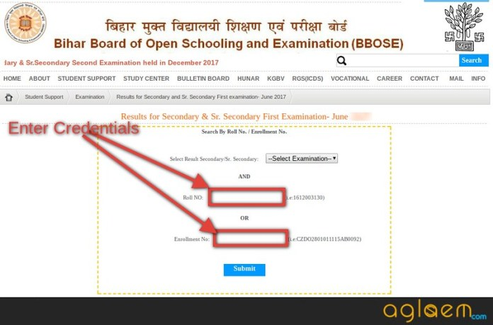 BBOSE 10th First Exam Result 2018