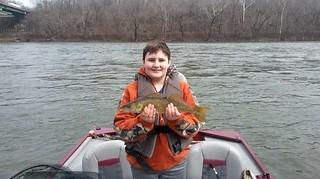 Boy with walleye