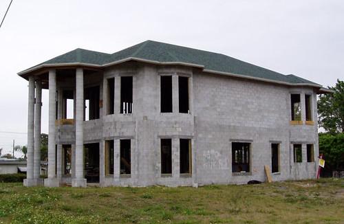 Concrete Block House  Spring Dew  Flickr