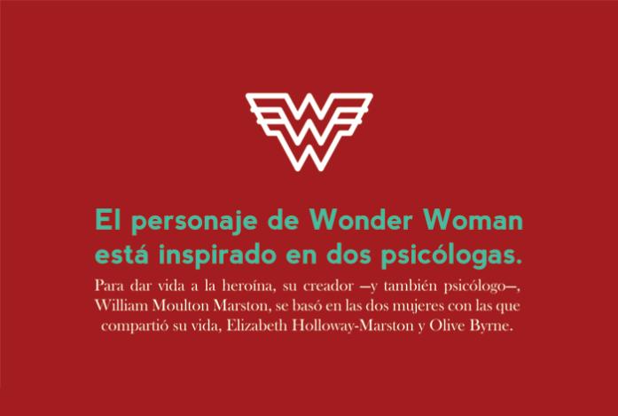 abril: el personaje de Wonder Woman está inspirado en dos psicólogas