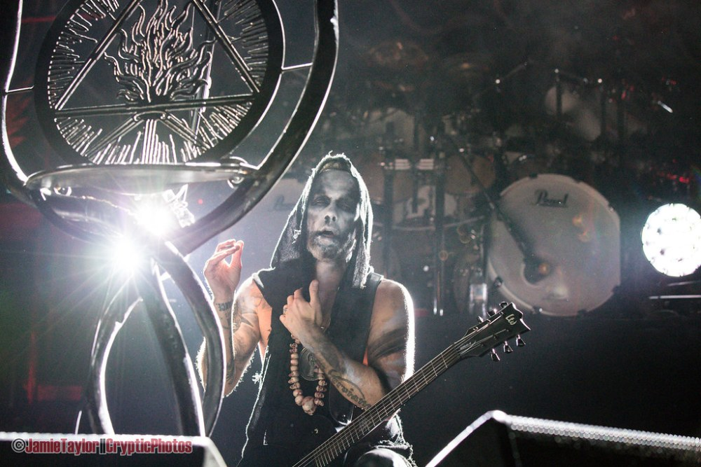 Adam Nergal Darski of Behemoth performing at the Pacific Coliseum in Vancouver, BC on May 17th, 2018