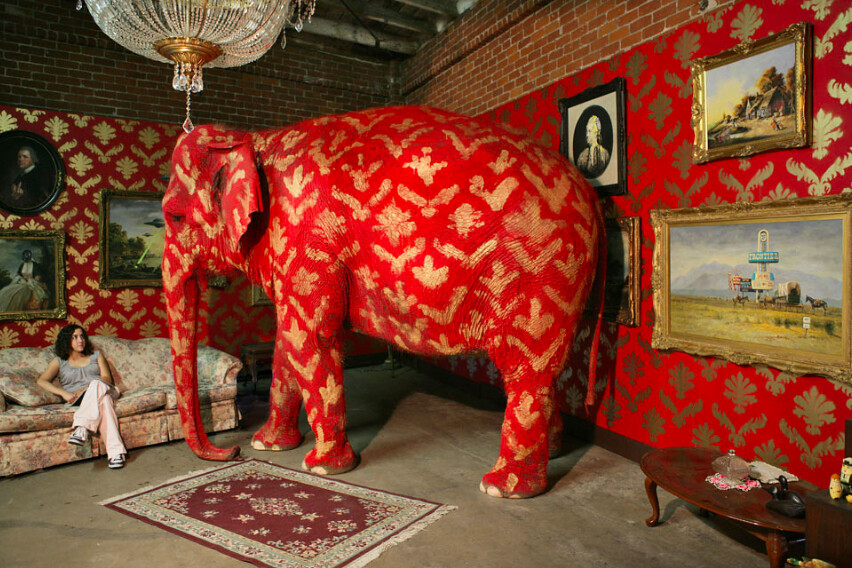 The Elephant in the Room by Banksy  enwporgElephant_in