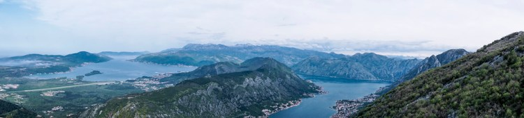 Kotor Bay as seen from Njegos Mausoleum in Lovcen National Park | Boka Bay | Montenegro | Kotor | My gluten free experience in MONTENEGRO