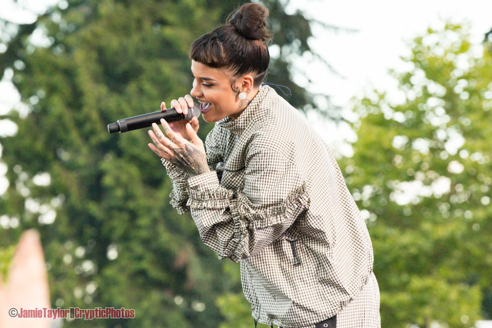 Kehlani performing at Fvded in the Park at Holland Park in Surrey, BC on July 7th, 2018