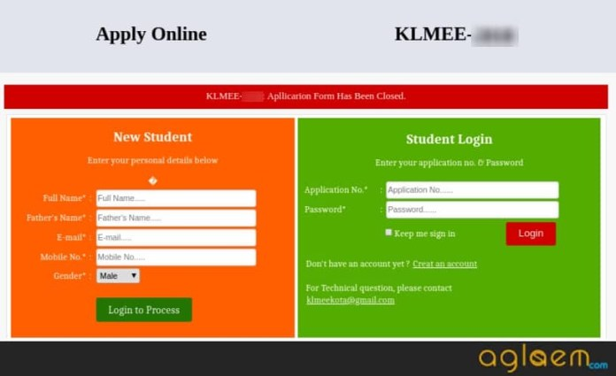 KLMEE 2019 Application Form