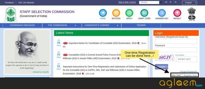 SSC GD Constable Application Form 2018 (Correction Started) Register Here