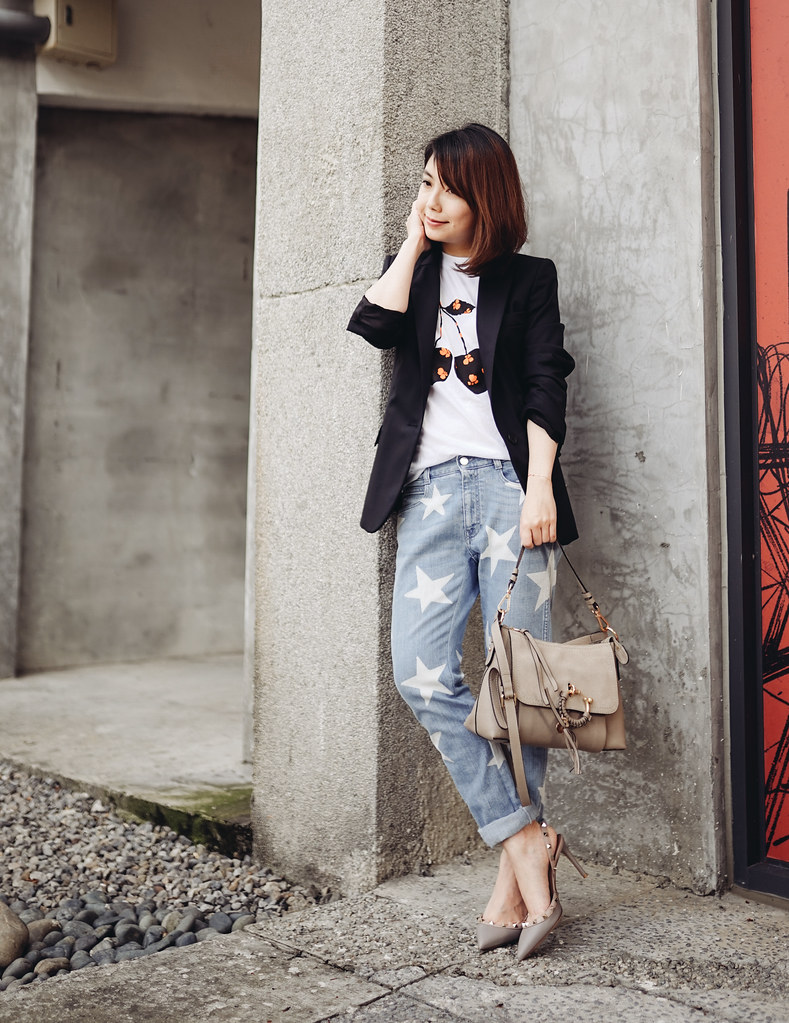 ▌Outfit ▌池太太的黑眼圈:See by Chloe Joan Bag + Valentino Slingback +Gucci Princetown