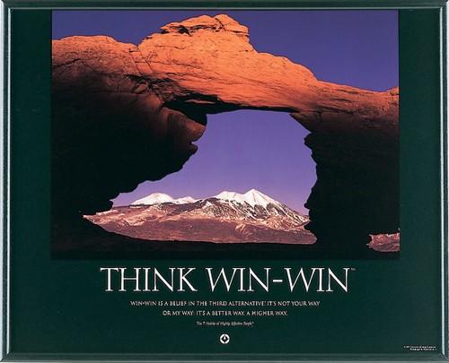 think winwin  franklin coveys habit 4  think winwin