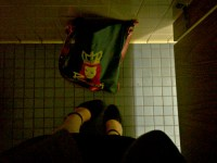 My feet and purse in a bathroom stall | At work ...