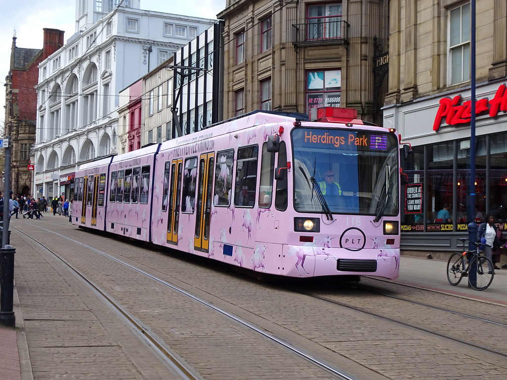 Supertram 118 High Street  Stagecoach Sheffield Supertram 1  Flickr