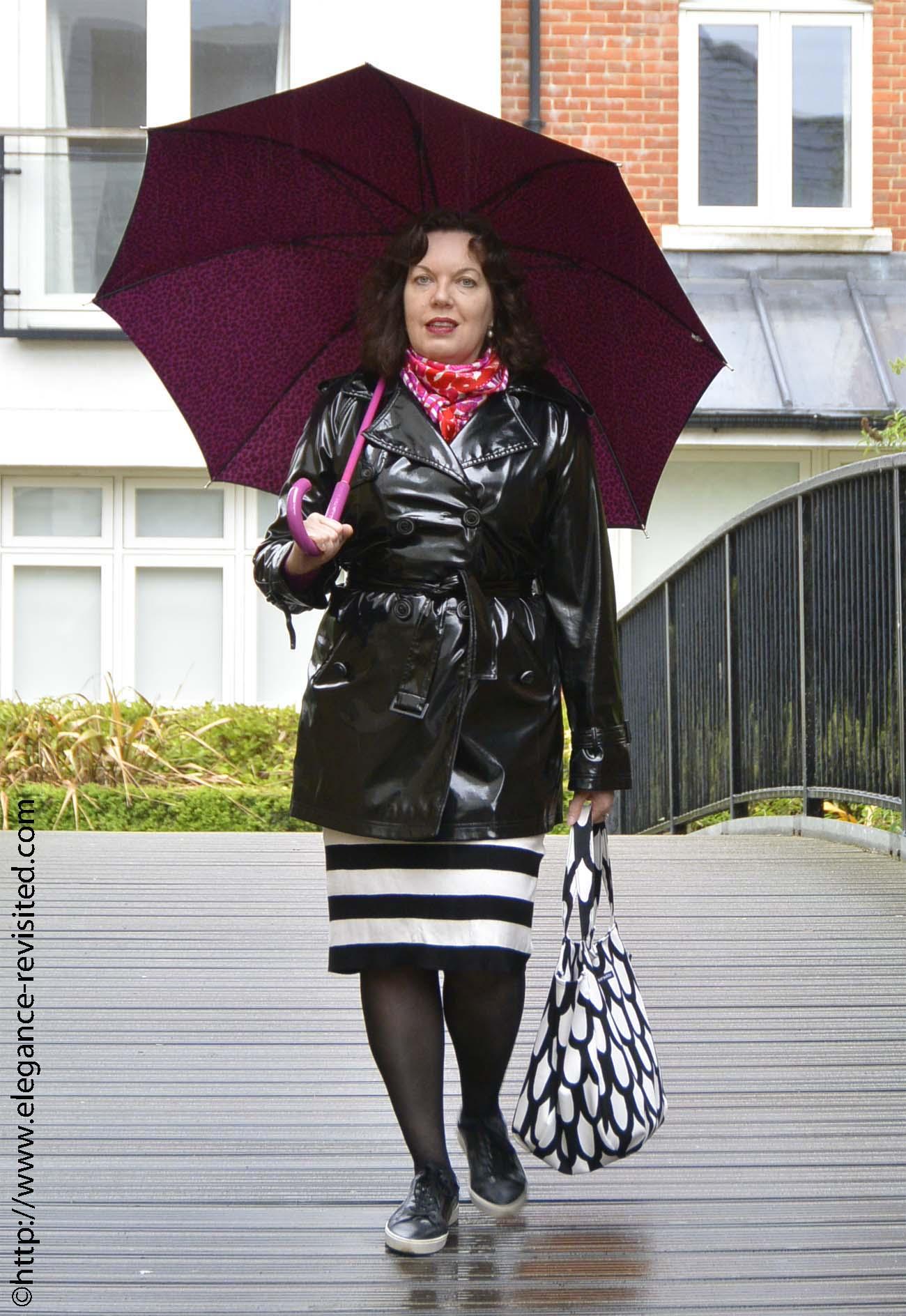 rainwear pattern mixing