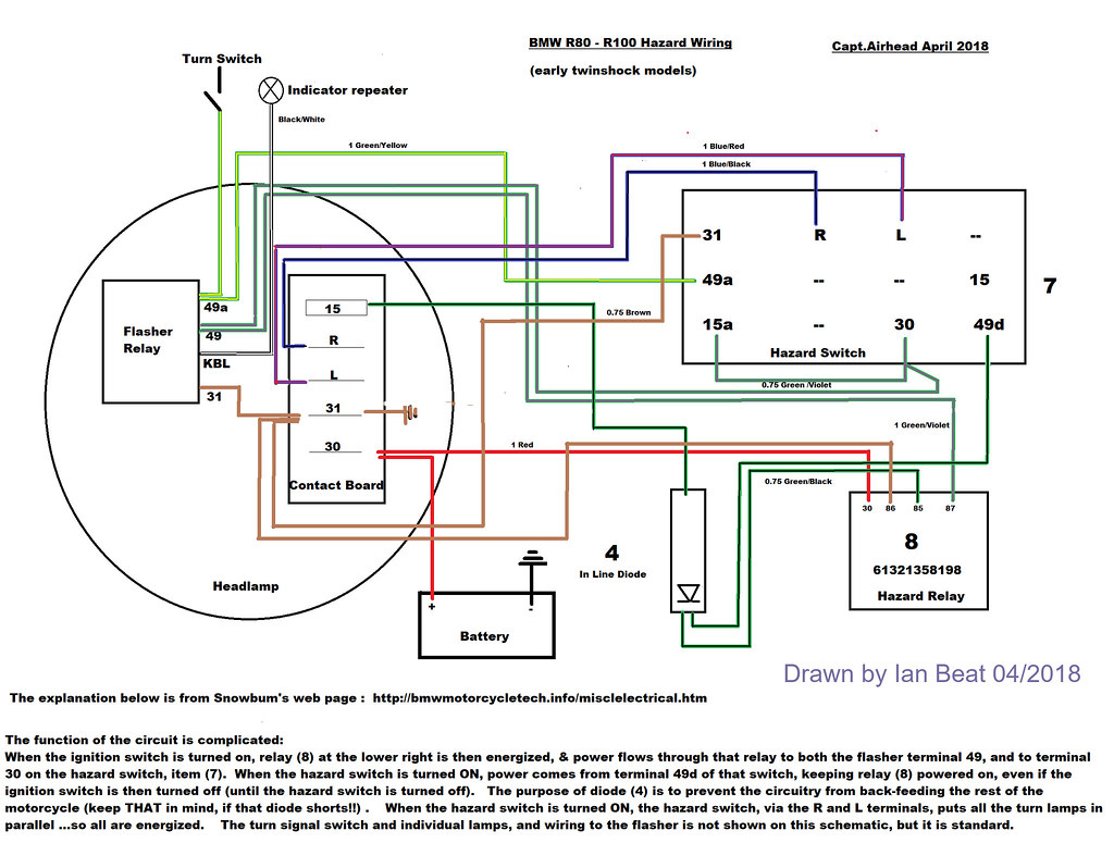 hight resolution of bmw r100 7 wiring diagram wiring libraryairhead hazard wiring colour diagram of the bmw twinshock flickr