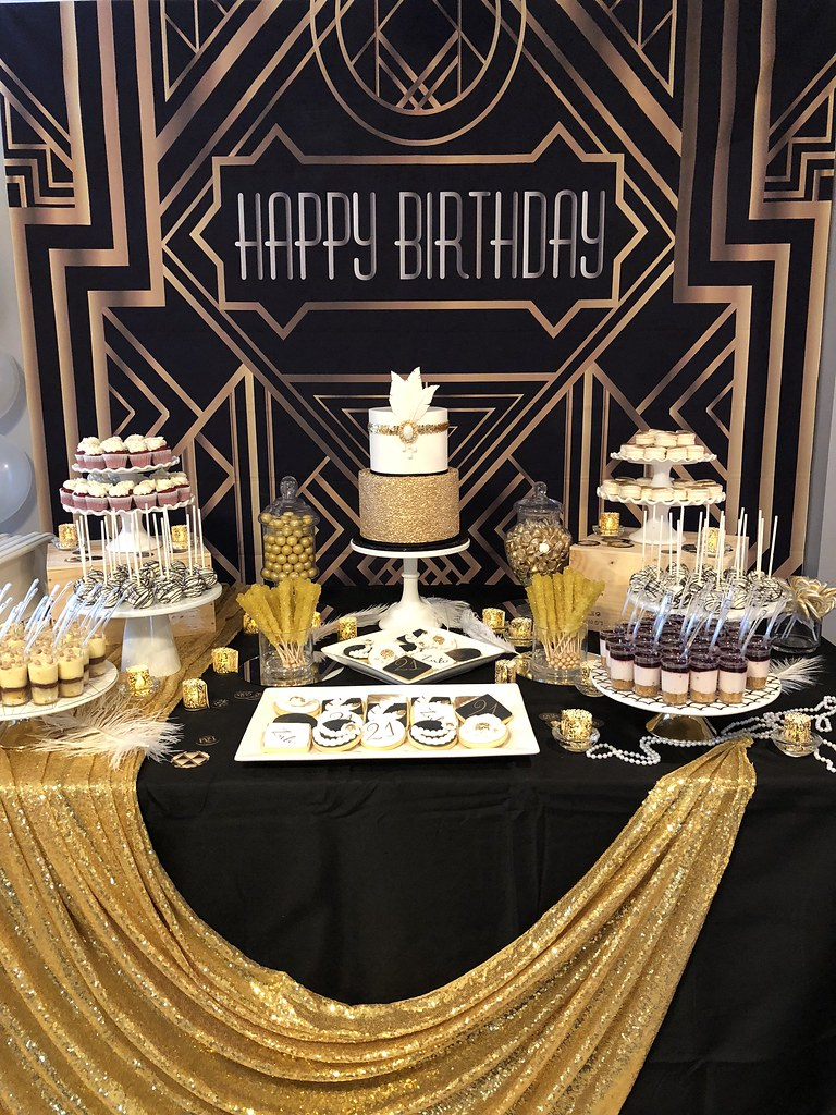 Great Gatsby Themed Birthday Dessert Table Jenny Wenny