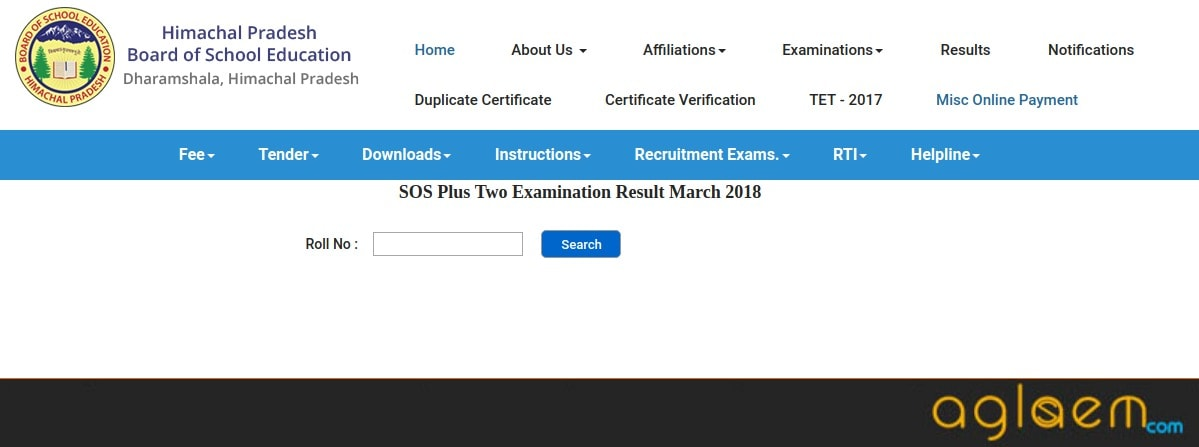 HP SOS 12th Result 2018