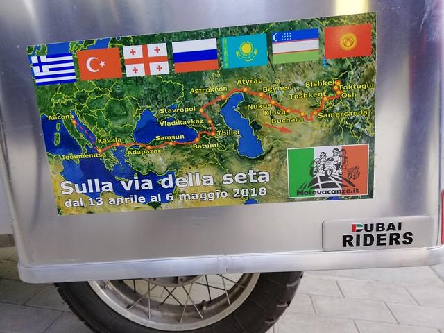 Il percorso del viaggio a Samarcanda