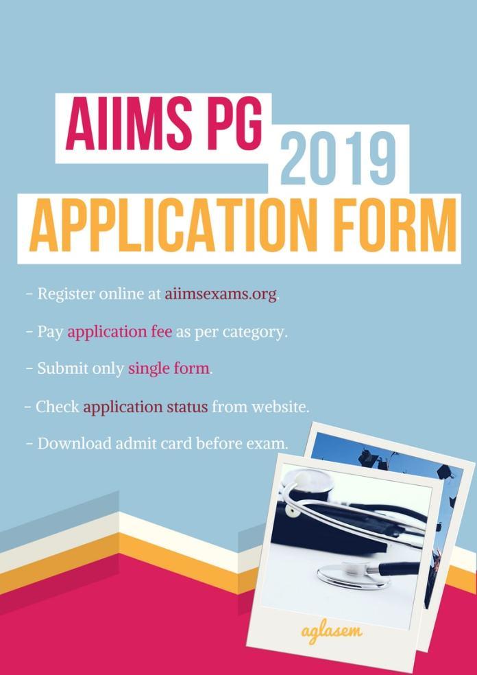 AIIMS PG 2019 Application Form / Registration