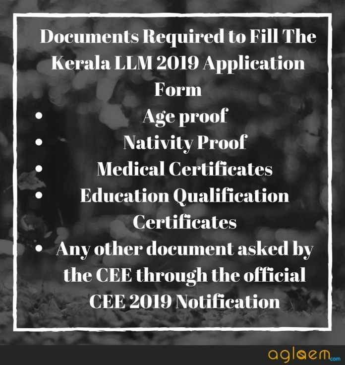 Kerala LLM 2019 Application Form - Register Online  %Post Title | AglaSem