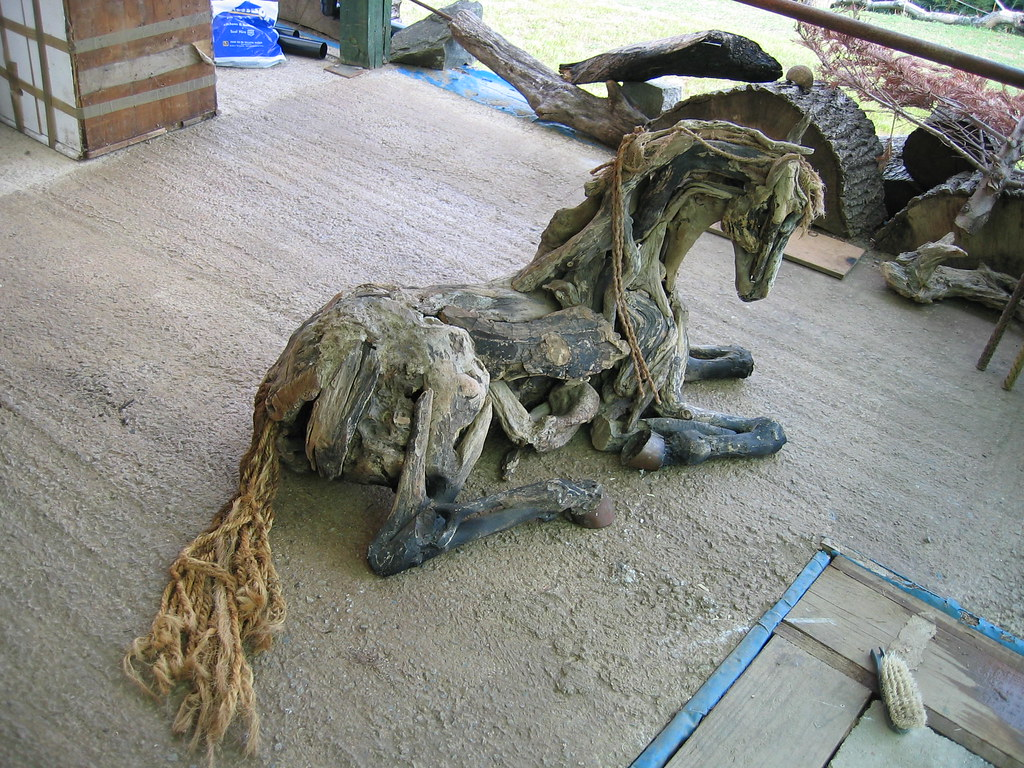 Horse Lying Down  Work by Devon based artist Heather