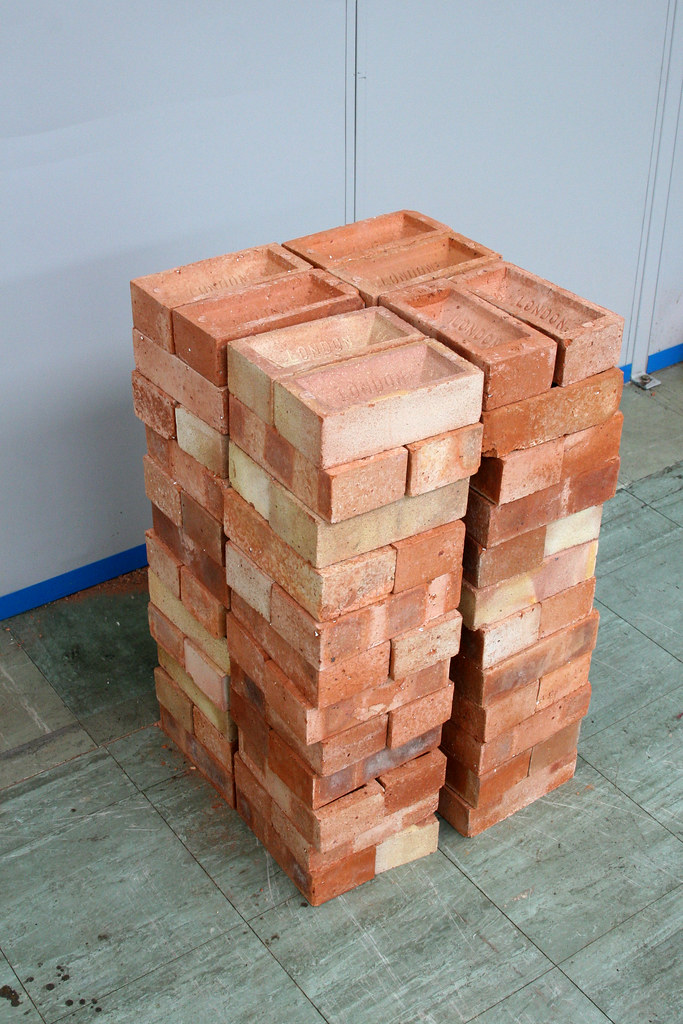pile of bricks ready for laying  15 October SBLAT