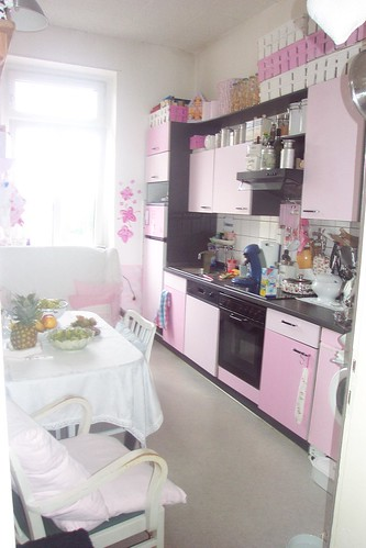 unsere rosa kueche our pink kitchen  100prozentSCHOENde  Flickr