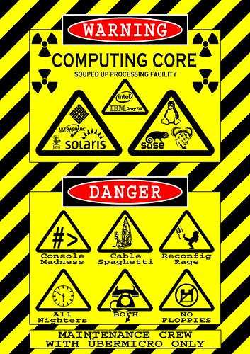 My Server Room Warning Sign  This is the sign I created
